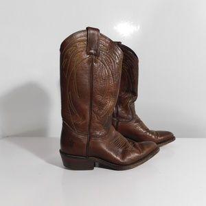 Frye Brown Western Cowboy boots 6.5